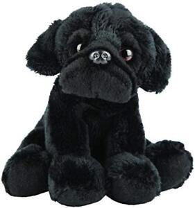 Realistic Black Pug Sitting Cuddly Toy 12.7cm By Suki Gifts