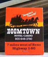 Rare Vintage Matchbook Cover S2 Reno Nevada Horse Coach Boomtown Hotel Casino