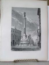 Vintage Print,COLUMN IMMACOLATA,Rome,Franics Wey,1872
