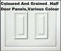 PVC UPVC Raised Door Panel 20 24 28mm Woodgrain Oak Cream Rosewood Colours Etc
