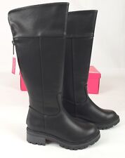 Nina Kids Nixie Faux Leather Riding Boots, Little Girl's Size 11 M, Black New