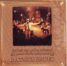PATRICK BRUEL  QU'EST CE QU'ON ATTEND POUR ETRE HEUREUX RARE CD PROMO