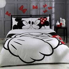 Disney Mickey Minnie Mouse Bedding Set 100% Cotton Doona/Quilt/Duvet Cover Set