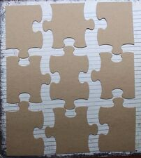 "9 piece 10 x 8"" jigsaw puzzle Bare chipboard die cuts @ piece ~ 2 3/4"" x 3 1/4"""