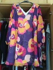 Kleid bedruckt  flower power  Gr. 48 🆕