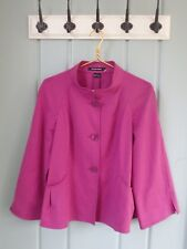 NEW Ellen Tracy Size 10 M Magenta Orchid Swing Stretch Blazer Jacket High Collar