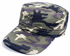 Camouflage Jungle Army Cap -Camo Hat - Military, Geocaching, Hunting 100% Cotton