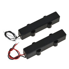 Black Sealed 5 String Jazz Bass Pickups For Fender replacement Bridge Neck Set