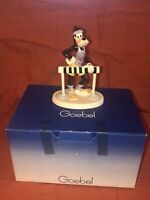 VTG Rare Goebel Germany Disney Ceramic Running Hurdle Goofy Figurine Statue 1987