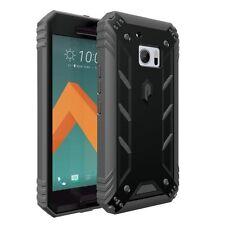HTC 10 POETIC [Revolution] Shock Absorption Hybrid Case w/ Built-In Screen Black