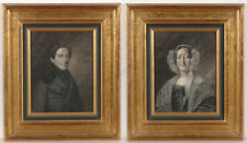 """Rudolf Friedrich Carl Suhrlandt """"Husband and Wife"""", Two Important Drawings! 1839"""