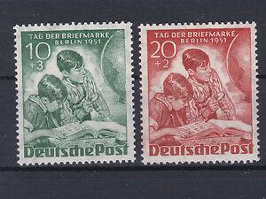 Berlin 1951 Tag der Briefmarke Michel 80+81 Postfrisch ** MNH Tadellos
