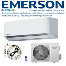 New! Emerson 12,000 BTU Ductless Mini Split Air Conditioner Heat Pump Full Kit