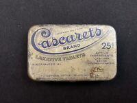 Vintage Cascarets Brand Laxative Tablets Tin