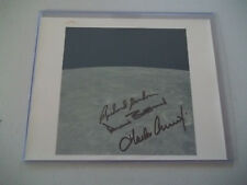 Vintage Apollo 12 Crew, Autographed on NASA Red # Photo