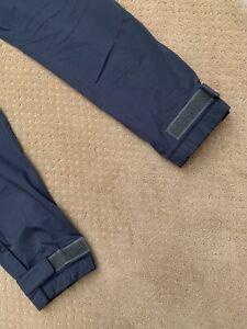 Prada Stretch Trouser Pants Strap Cuff Navy Blue Vtg 50