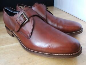 Cole Haan British Tan Leather Monk Strap Dress Shoes Us Sz 12 M