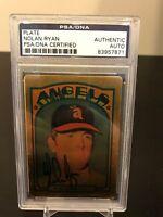 1972 Topps Nolan Ryan Signed Autographed Porcelain Baseball Card PSA DNA COA