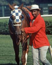 1973 Triple Crown Horse SECRETARIAT Glossy 8x10 Photo Groom Eddie Sweat Poster