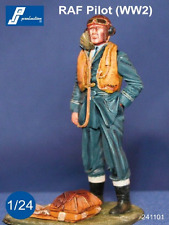 PJ Production 241101 1/24 RAF Pilot WWII standing Resin Figure