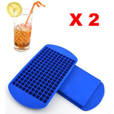 2X Mini Small 160 Ice Cube Tray Frozen Cubes Trays Kitchen Tool Silicone Fast US