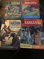 Lot Of 4 Comics TARZAN OF THE APES Gold Key