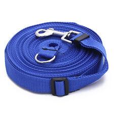 Long Pets Dog/Cat/Puppy Training Obedience 50ft/15m/2.5cm Lead Leash Blue New