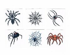 6 x assorted Spider Temporary Tattoos - Kids Party Favours , stocking fillers