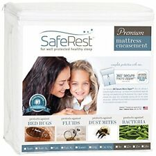 Queen Size SafeRest Waterproof Bed Bug Proof Zippered Mattress Cover Dust Mite