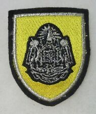 ROYAL THAILAND MILITARY BERET PATCH on YELLOW Vintage THAI Made ORIGINAL 4946a3b9953