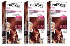 3x FRANCK PROVOST Professional Hair Dye 6.56 Red Blonde Dark Mahogany Colour