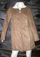 LIGHT BROWN FAUX FUR LINING  COAT TRENCH MARVIN RICHARDS SMALL NEW $ 99
