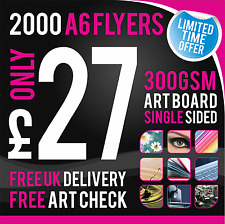 2000 A6 Leaflets / Flyers - 300gsm Coated Art Board - Single Sided - Full Colour