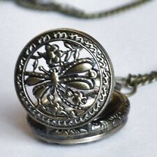 Dragonfly Pocket Watch Retro Chain Vintage Women's Necklace