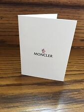 Moncler Booklet Receipt Holder New Authentic