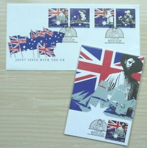 """Australia 1988: """"Joint Issue with UK"""", excellent FDC & 4 Maxi/PHQ card set"""