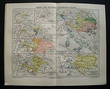 1897.Orig. Xilo-GeoTopografica_AUSTRIA-UNGHERIA.STORICA