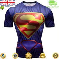Compression gym top superhero avengers marvel muscle Superman BJJ MMA Crossfit