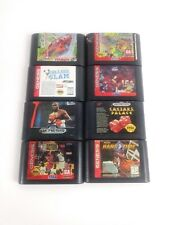 Sega Genesis 8 Game Lot, Hard Drivin, Boxing, NBA Action, Asterix, NBA Hang Time