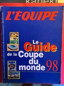 FOOTBALL L'EQUIPE MAGAZINE GUIDE WORLD CUP 1998 FRANCE COLLECTOR