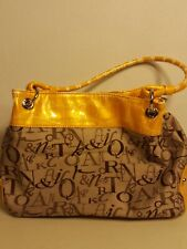 SAG HARBOR Purse Shoulder Bag Brown canvass coach-like 3 comp. Lg. Capacity