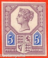Sg. 207. K35. 5d aburrido Purple & blue (Die 1). visto bueno. Menta desmontado