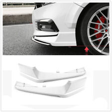 2X ABS Front Bumper Both Side Lip Molding Trims For Honda Accord 2018 2019 White