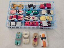 HO slot cars, vintage Aurora and TYCO, 11 cars, 4 shells