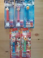 Disney Mickey, Minnie, Donald, Goofy, And Pluto Pez lot of 5 Candy Dispensers