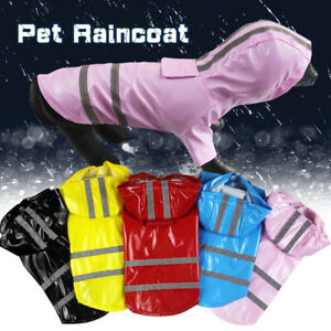 Reflective Dog Puppy Cat  Hoodie RainCoat Waterproof Pet Clothes Jacket Rainwear