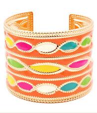 Moroccan Enamel Bracelet Women Gold Plated NEW