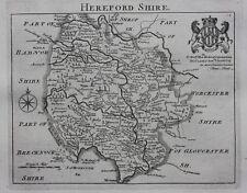 Original antique map ENGLAND HEREFORDSHIRE 'England Displayed' Thomas Read, 1769