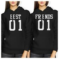 Best 01 Friend 01 BFF Hoodies Cute Best Friends Hooded Sweatshirts