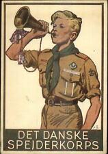 Dansih Boy Scouts Poster Art Old PSOtcard